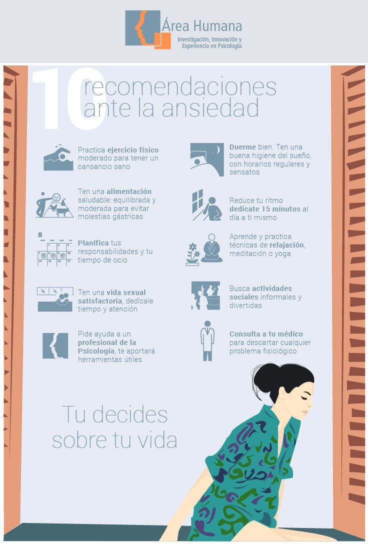 10 recomendaciones claves ante la #Ansiedad. ¡Tu decides sobre tu vida!