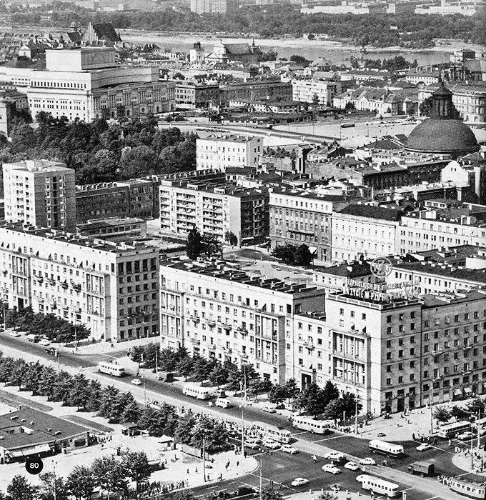 ul. Świętokrzyska - ul. Marszałkowska, lata 50./60.   (fot. Edmund Kupiecki)