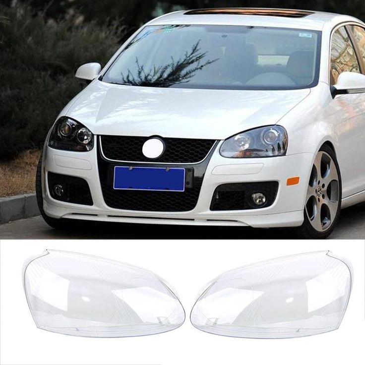 [Visit to Buy] 2x Transparent Housing Headlight Lens Shell Cover Lamp Assembly For VW MK5 GOLF 5 GTI GLI JETTA 2005-2009 Car Styling #Advertisement