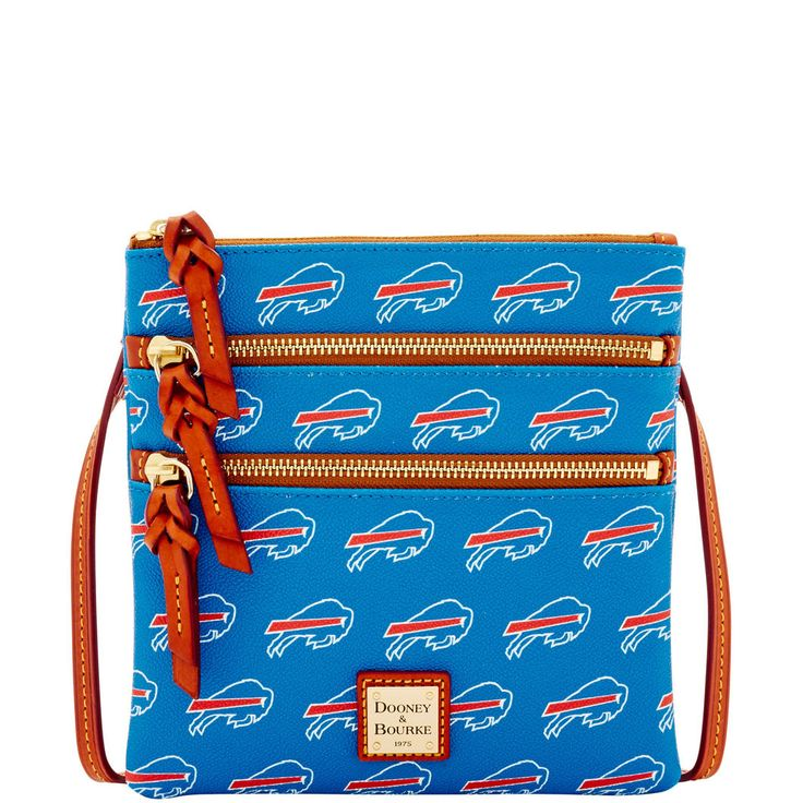 Circle the Wagons! Rep your team with an officially licensed Buffalo Bills bag or accessory. This bag is simple and chic with timeless elegance and understated style, making it perfect for work or a dressed up night about town.