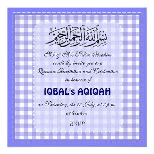 Best 100 islamic art gifts images on pinterest islamic art boy blue aqiqah celebration custom invitation aqiqah aqeeqah stopboris Choice Image