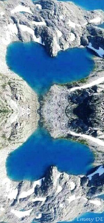 Heart-shaped Shimshal Lake, Hunza Valley, Pakistan