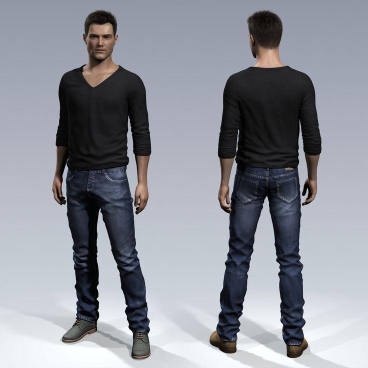 mark male body 3d max