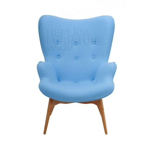 Replica Grant Featherston Contour Lounge Chair Light Blue