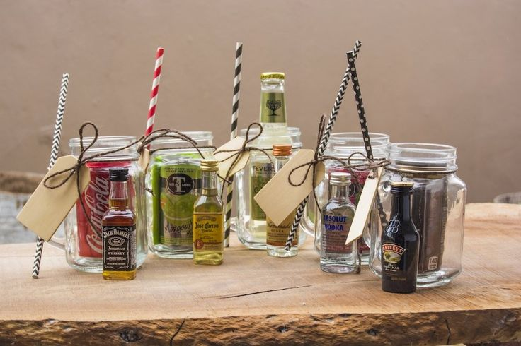 Mini Mason Jar Grey Goose & Cranberry Juice Gift Set is the perfect favor for showers and parties. What a perfect combo set - Grey Goose and cranberry juice. Salute! Mason Jar Gift Sets are too cute for words. Free Shipping.