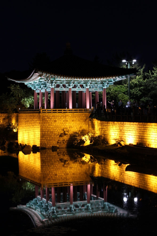 Anabji Pond in Gyeongju, Korea