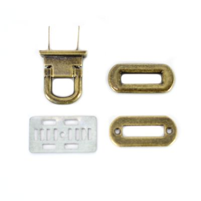 Oval Flip Lock - Antique Brass