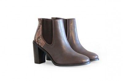 GRACE - MARRON / PYTHON #derbies #boots #shoes #women #leather