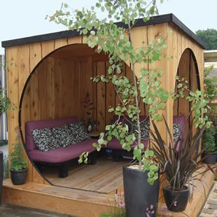 OutPost - Garden Pod. This would be awesome in the backyard