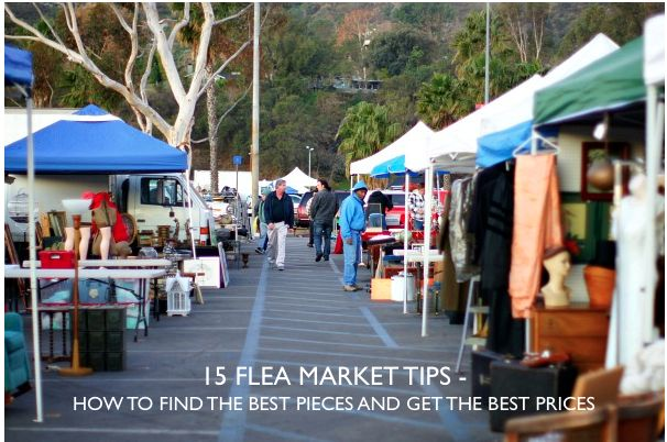 15 strategies to finding the best flea market pieces.  All on the blog today.