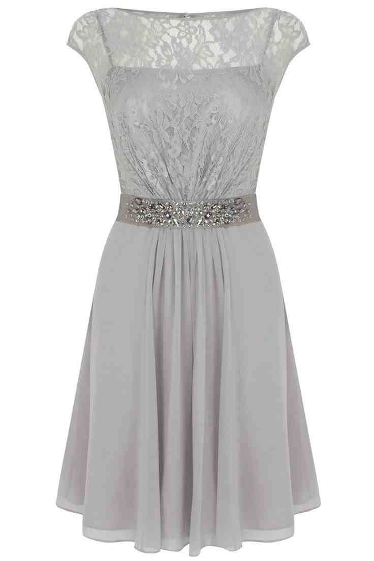 Short Grey Bridesmaid Dresses