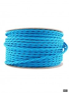 BRIGHT BLUE | fabric lighting flex cable | TWIST