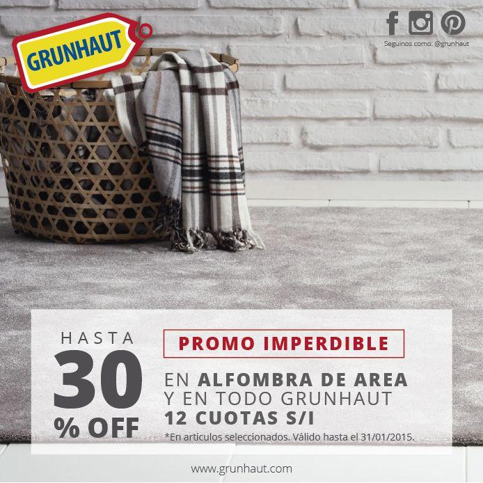 Aprovecha esta #PromoImperdible en #Alfombras de Area www.grunhaut.com Tucumán 179 - (0351) 4238022 9 de Julio 424 - (0351) 4234946 Alvear 759 - (0351) 4229819 Hipe rConstrucción Rodriguez del Busto L.207 - (0351) 4778580 #Grunhaut #Cuotas #TarjetasDeCredito