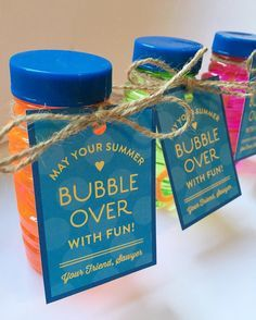 To kick off summer, Sawyer gave his classmates these little bubbles as gifts yesterday. I put the free printable tag on the blog this morning if you would like to download it. Now we are off for a morning filled with sidewalk chalking, bubble blowing, and sand table digging! Happy Friday, friends!
