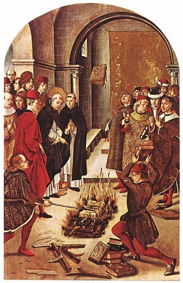 Pedro Berruguete St Dominic and the Albigenses , 1495 Tempera and oil on wood  122 x 83 cm