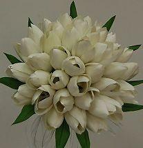 SILK TULIP BRIDAL BRIDE POSY WEDDING FLOWER BOUQUET