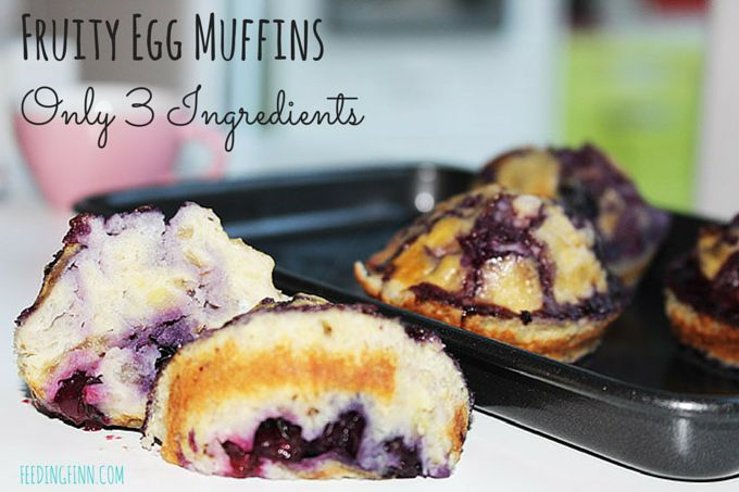 Fruity Egg Muffins 3 ingredients - SYN free and slimming world friendly