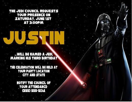 Best David Star Wars Party Images On Pinterest Star Wars - Star wars birthday invitation maker