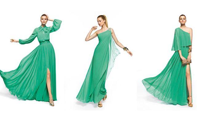 Abiti da sposa verde smeraldo per un matrimonio trendy