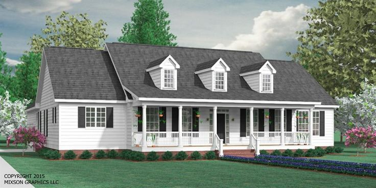 House Plan 2224-2-A The BIRCHWOOD A elevation -Beautiful one-story plan. Formal Dining Room and large open living space. Four bedrooms with split-layout design. Optional Study and Bonus Room over 2-Car Garage. Covered Porches front and rear.