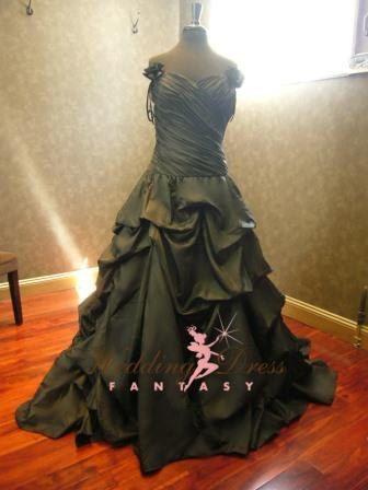 Black Wedding Dress with Straps by WeddingDressFantasy on Etsy, $909.00