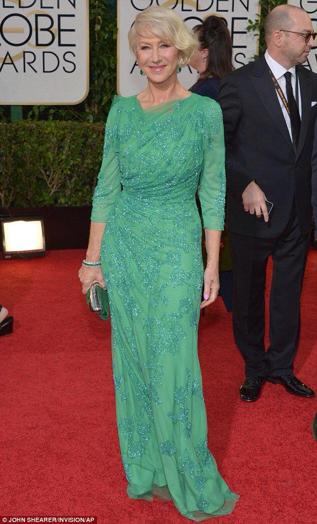 Helen Mirren at the 2014 Golden Globes