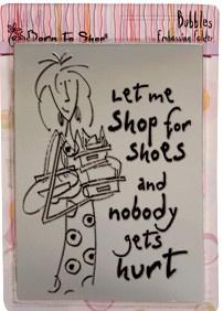 Docrafts Bubbles Shop for Shoes 15 x 11cm