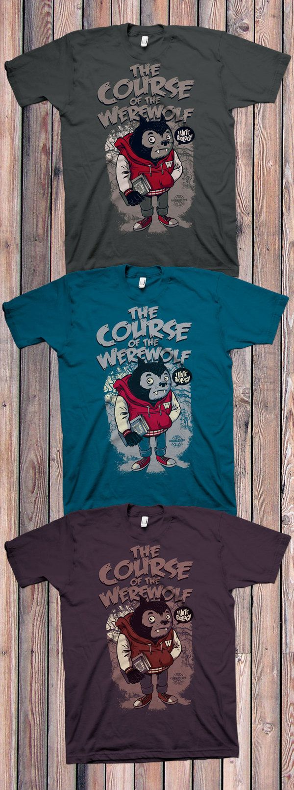 T shirt design quad cities - The Course Of The Werewolf