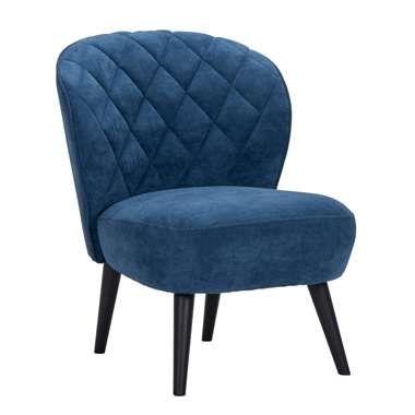 Fauteuil Vita - stof - donkerblauw