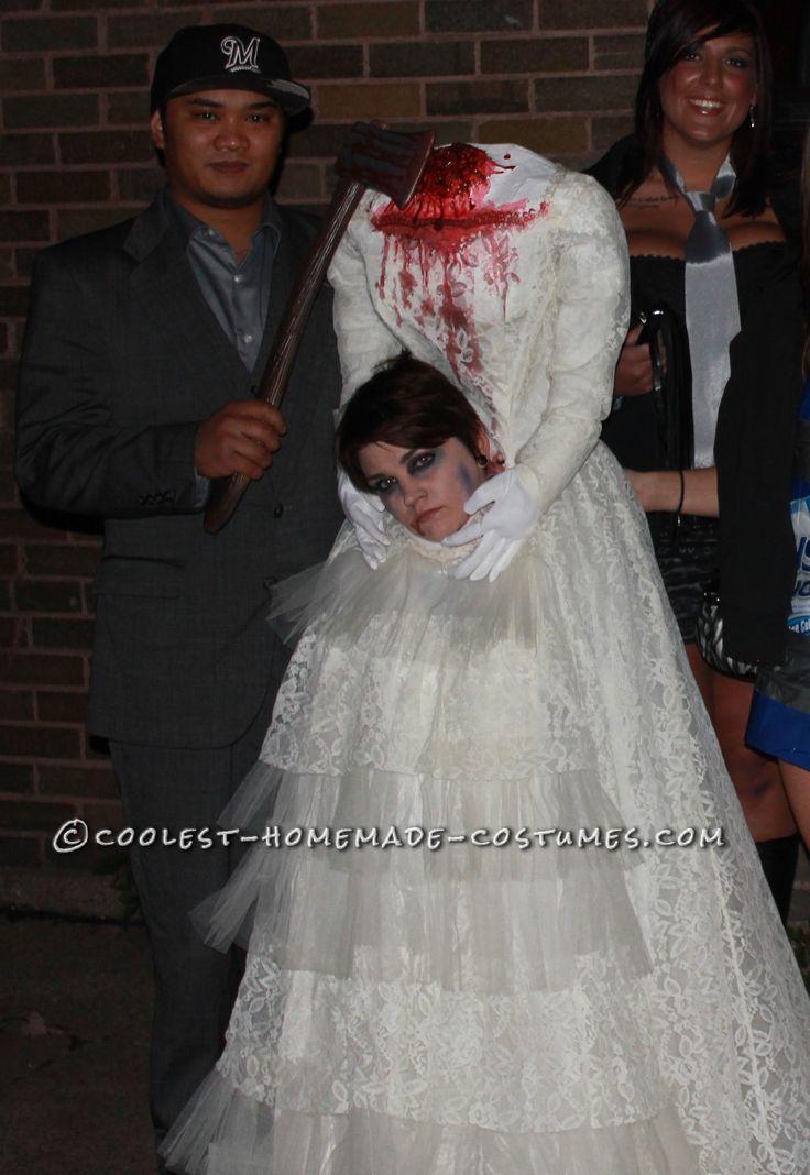 Realistic Decapitated Bride Costume