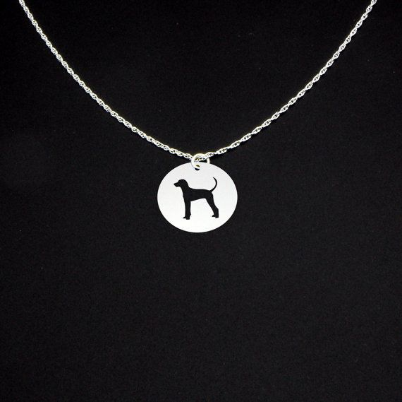 Treeing Walker Coonhound Necklace - Sterling Silver
