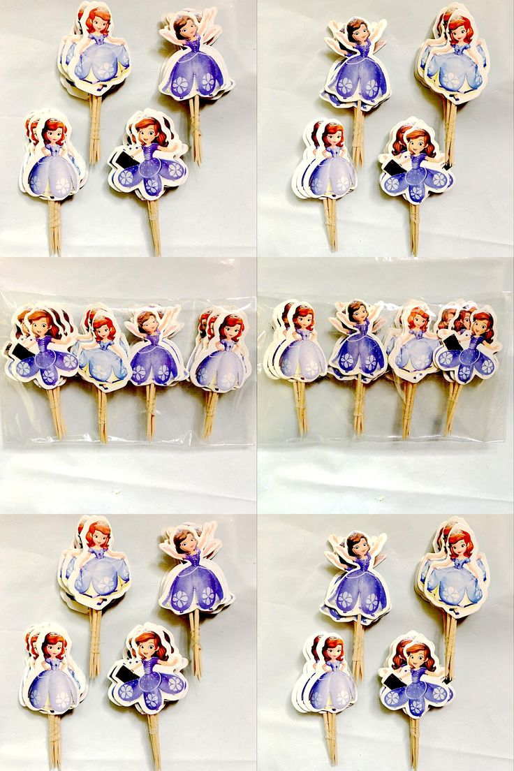 [Visit to Buy] Hot! New 24pcs Cute Little Princess Sofia Theme Party Cake Decorating Supplies Cartoon Cupcake Toppers Pick Kid Birthday Toy #Advertisement