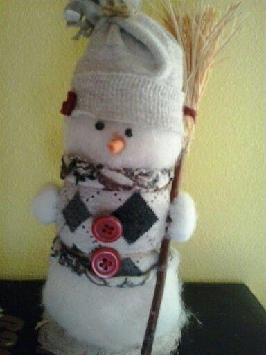 Aranyos könnyen elkészíthető hó ember
