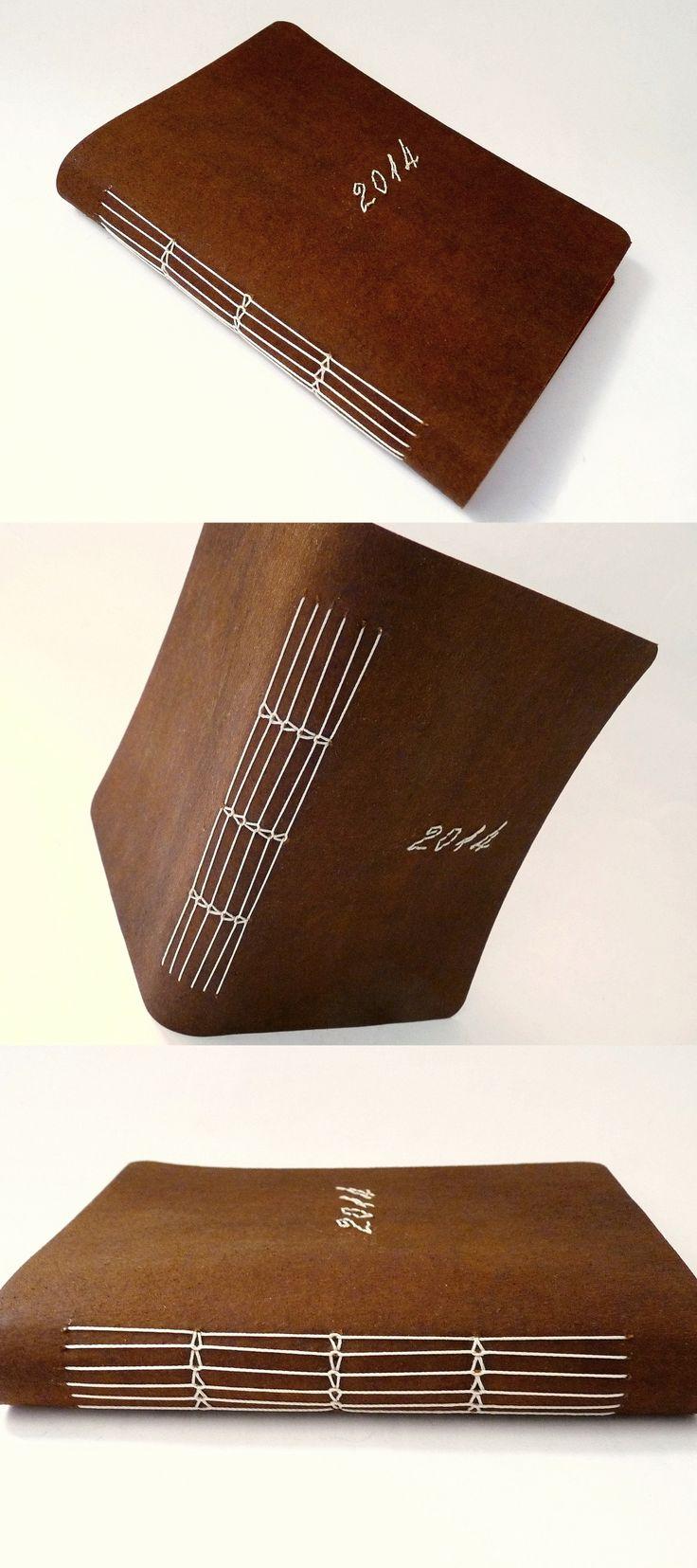 agenda 2014, capas em recouro bordado, encadernação artesanal por Luisa Gomes Cardoso para o Canteiro de Alfaces