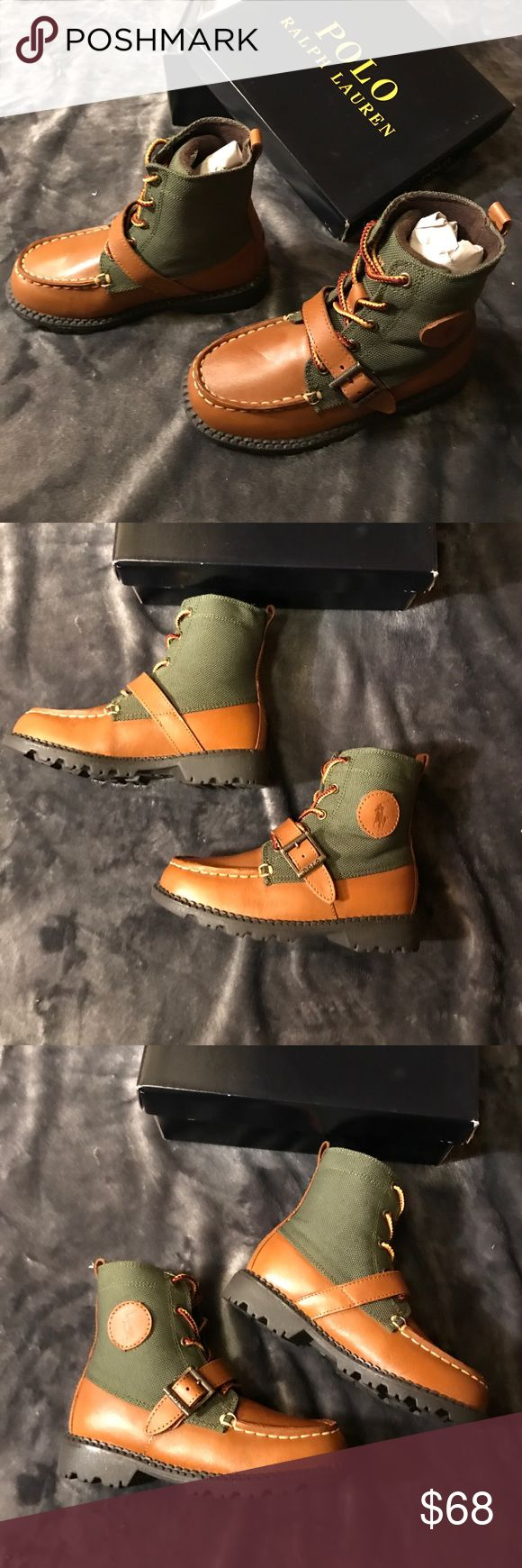Polo Ralph Lauren Ranger Hi ll boots Gorgeous. Stylish. Very comfortable boots. Goes great with parka.  Color tan / olive. Size US 10 UK 9.5 EUR 26.5 CM 16 Polo by Ralph Lauren Shoes Boots