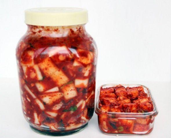 Radish Kimchi recipe I use...the same sauce as the Nappa Kimchi I make. I make these at the same time.