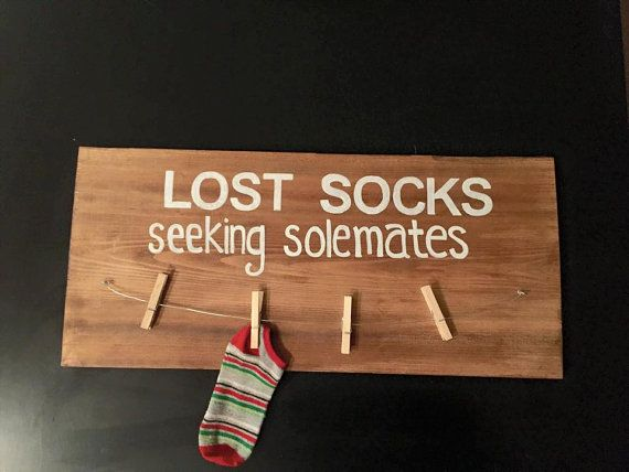 Hey, I found this really awesome Etsy listing at https://www.etsy.com/listing/234009338/lost-socks-seeking-solemate-wood-laundry