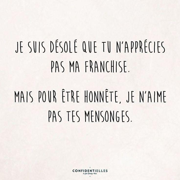 Pour être honnête #franchise #citation #citationoftheday #confidentielles