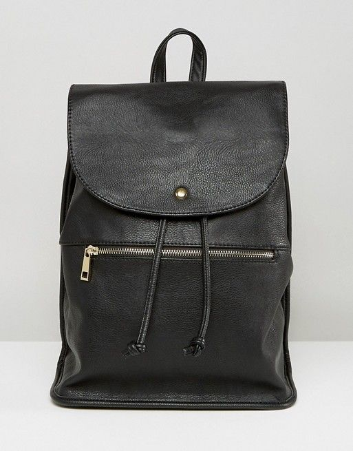 ASOS   ASOS Soft Backpack with Zip Detail