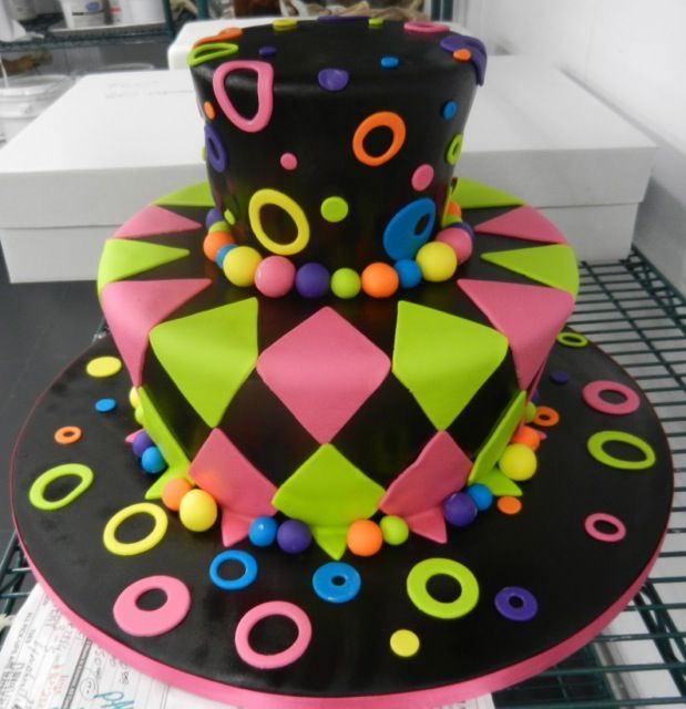 Best Pastel Neon Images On Pinterest Biscuits Neon Cakes And - Neon birthday party cakes