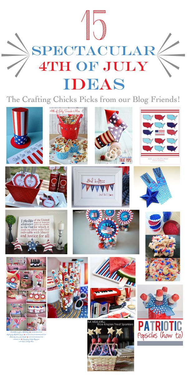 15 Spectacular 4th of July ideas from amazing bloggers.  All rounded up on www.TheCraftingChicks.com.