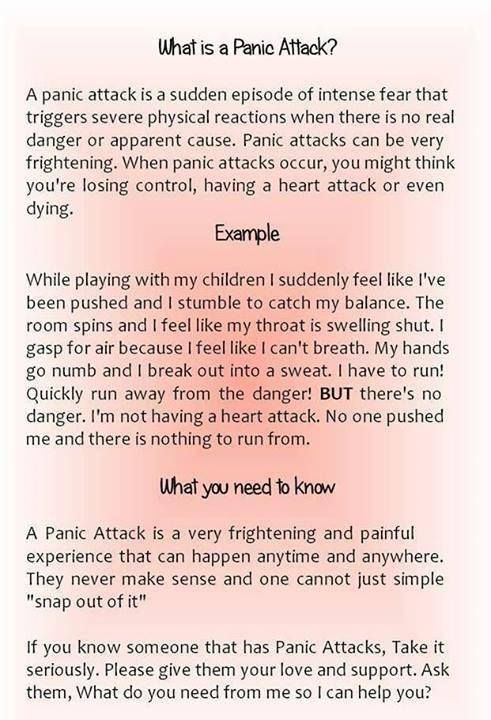 What a panic attack is and what you can do to help someone having one
