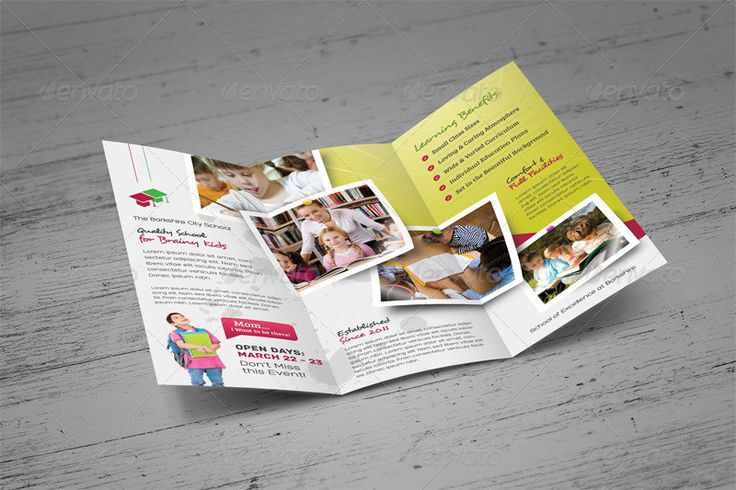 School Admission Brochure Template