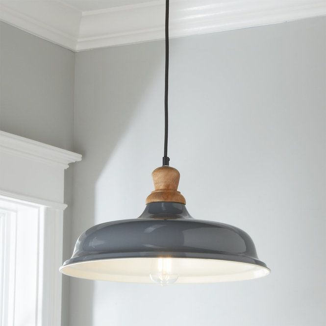 Wood Capped Warehouse Pendant Rustic Farmhouse Pendant Lights