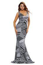 2016 frauen cocktail Bodenlangen Formale Kleider nachtclub Backless Unregelmäßigen Schwarz Weiß Streifen Drucken Maxi langes Kleid 61248 //Price: $US $22.53 & FREE Shipping //     #eveningdresses