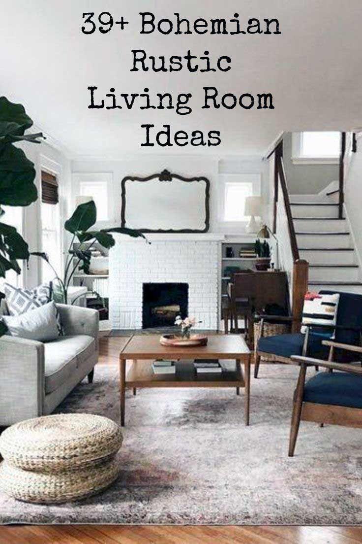 Modern Rustic Bohemian Living Room Design Ideas 01 Aladdinslamp Net Home Design Bohemian Living Room Home Decor Living Room Decor