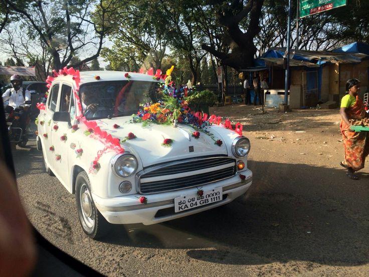 India.  Wedding car.