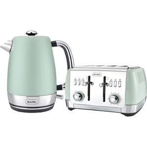 Breville Strata Collection Kettle and Toaster Bundle - Green: Image 1