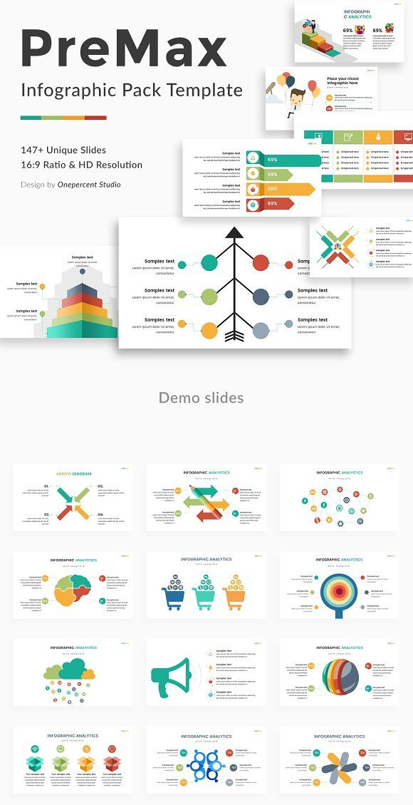 Premax Infographic Pack Powerpoint by One Percent Studio on