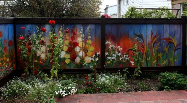 1000 ideas about fence painting on pinterest solar for Cypress gardens mural